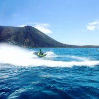adventure in corralejo on jet ski