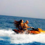 couple on jet ski safari trip