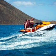 enjoying jet ski trip in fuerteventura